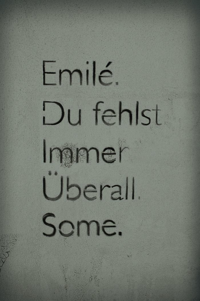 Emilé - Du fehlst. Immer. Überall. Some.