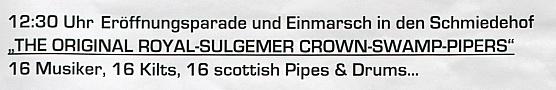 The Original Royal Sulgemer Crown Swamp Pipers