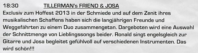 Tillerman's Friend & Josa