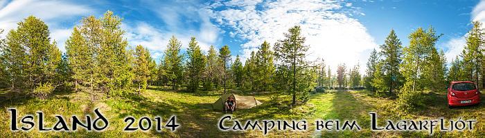 Camping beim Lagarfljót