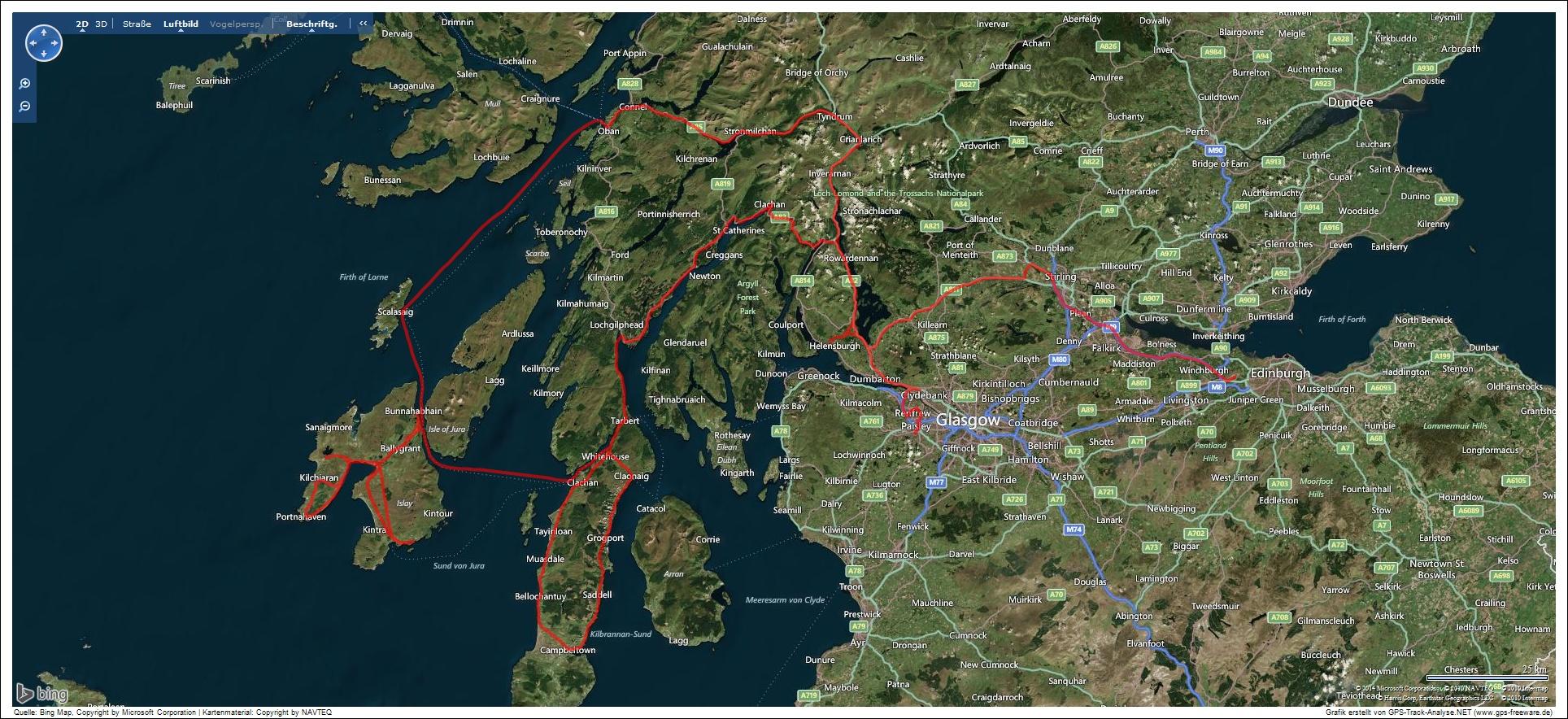 Tour Schottland 2014
